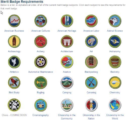 merit badges boy scouts